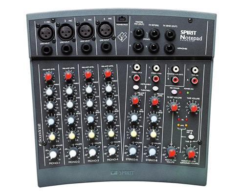 Soundcraft Spirit-Notepad – 4 x Mono 2 x Stereo Analogue Mixer